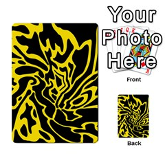 Black and yellow Multi-purpose Cards (Rectangle)