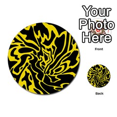 Black and yellow Multi-purpose Cards (Round)
