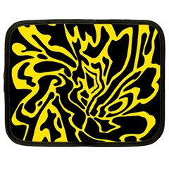 Black and yellow Netbook Case (Large)