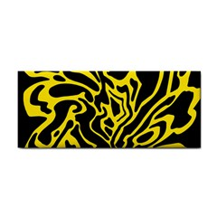 Black and yellow Hand Towel