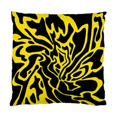 Black and yellow Standard Cushion Case (One Side)