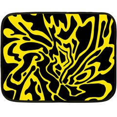 Black and yellow Double Sided Fleece Blanket (Mini)