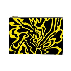 Black and yellow Cosmetic Bag (Large)