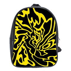 Black and yellow School Bags(Large)