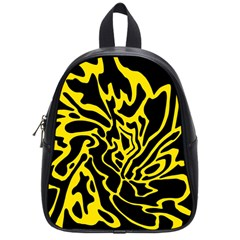 Black and yellow School Bags (Small)