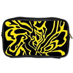 Black and yellow Toiletries Bags 2-Side