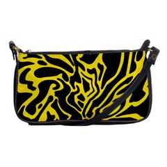 Black and yellow Shoulder Clutch Bags