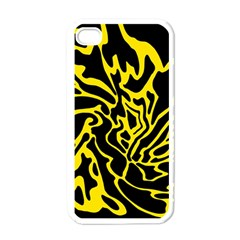Black and yellow Apple iPhone 4 Case (White)