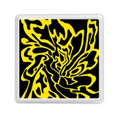 Black and yellow Memory Card Reader (Square)
