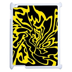 Black and yellow Apple iPad 2 Case (White)