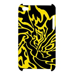 Black and yellow Apple iPod Touch 4