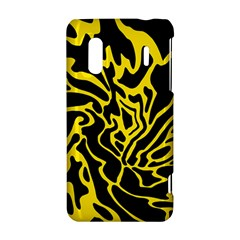 Black and yellow HTC Evo Design 4G/ Hero S Hardshell Case