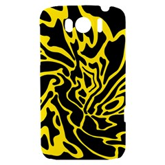 Black and yellow HTC Sensation XL Hardshell Case