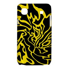 Black and yellow Samsung Galaxy SL i9003 Hardshell Case