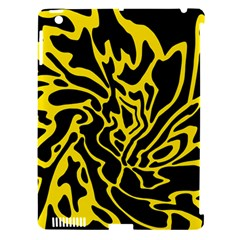 Black and yellow Apple iPad 3/4 Hardshell Case (Compatible with Smart Cover)