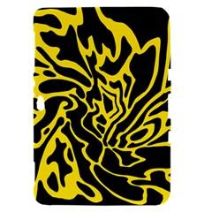 Black and yellow Samsung Galaxy Tab 8.9  P7300 Hardshell Case