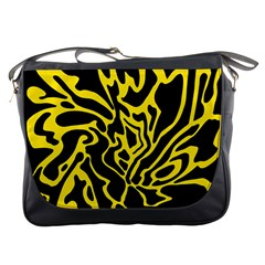 Black and yellow Messenger Bags