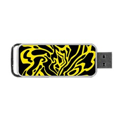 Black and yellow Portable USB Flash (One Side)