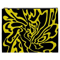 Black and yellow Cosmetic Bag (XXXL)