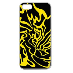 Black and yellow Apple Seamless iPhone 5 Case (Clear)