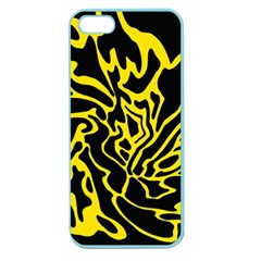 Black and yellow Apple Seamless iPhone 5 Case (Color)