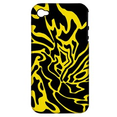 Black and yellow Apple iPhone 4/4S Hardshell Case (PC+Silicone)