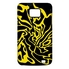 Black and yellow Samsung Galaxy S II i9100 Hardshell Case (PC+Silicone)