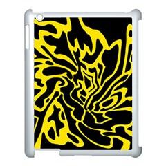 Black and yellow Apple iPad 3/4 Case (White)
