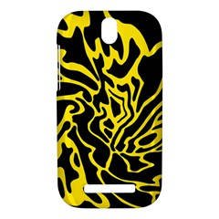 Black and yellow HTC One SV Hardshell Case