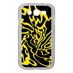 Black and yellow Samsung Galaxy Grand DUOS I9082 Case (White)