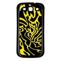 Black and yellow Samsung Galaxy S3 Back Case (Black)