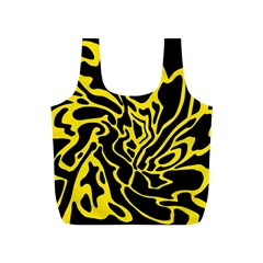Black and yellow Full Print Recycle Bags (S)