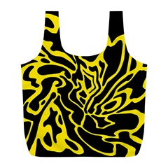 Black and yellow Full Print Recycle Bags (L)