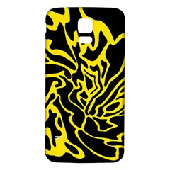 Black and yellow Samsung Galaxy S5 Back Case (White)