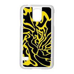 Black and yellow Samsung Galaxy S5 Case (White)