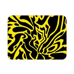Black and yellow Double Sided Flano Blanket (Mini)