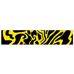 Black and yellow Flano Scarf (Small)