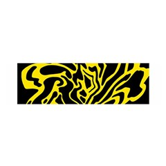 Black and yellow Satin Scarf (Oblong)