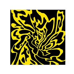 Black and yellow Small Satin Scarf (Square)