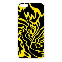 Black and yellow Apple Seamless iPhone 6 Plus/6S Plus Case (Transparent)