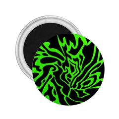 Green and black 2.25  Magnets