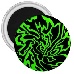 Green and black 3  Magnets
