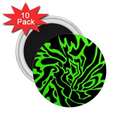 Green and black 2.25  Magnets (10 pack)