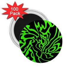 Green and black 2.25  Magnets (100 pack)