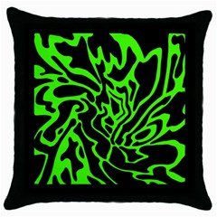 Green and black Throw Pillow Case (Black)