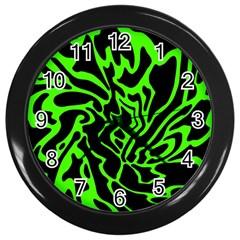 Green and black Wall Clocks (Black)