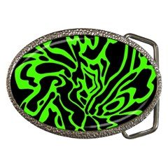 Green and black Belt Buckles
