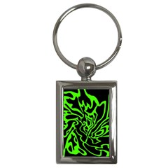 Green and black Key Chains (Rectangle)