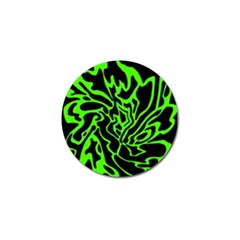 Green And Black Golf Ball Marker (10 Pack)