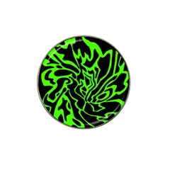 Green and black Hat Clip Ball Marker